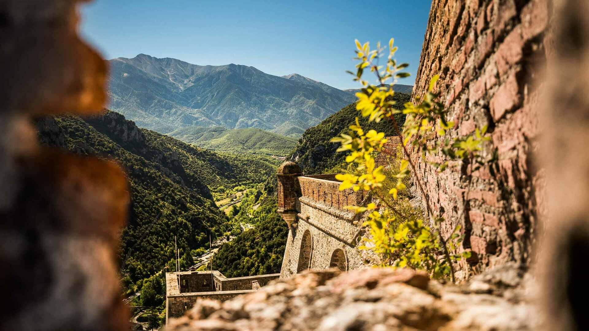 la vallée du cady depuis le Fort Libéria (c) JC Milhet